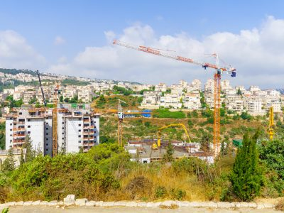 Urban renewal project. Haifa, Israel